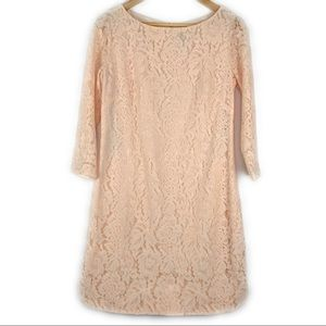 Vince Camuto Pink Lace Shift Dress 8